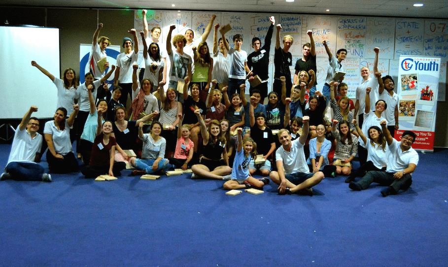 Celebrating after the board break on Saturday night of Empower U